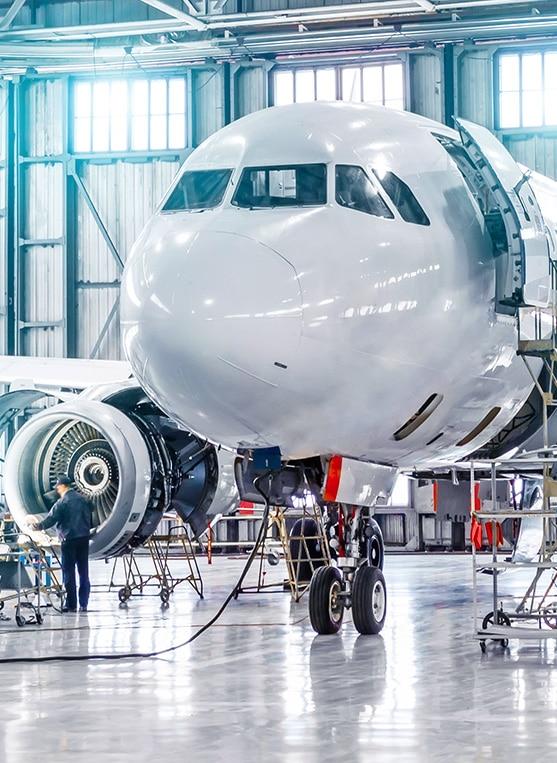Plane in hanger